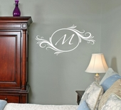 Delightful Elements Initial Custom Personalized Wall Decal