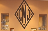 Diamond Monogram Custom Personalized Wall Decal