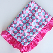 Diamond Pink Ruffle Blanket