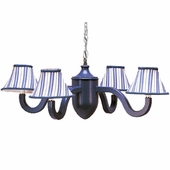 Dillon Blue Four Arm Acorn Chandelier