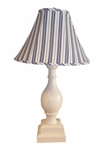Dillon Blue Stripe Large Vase Lamp