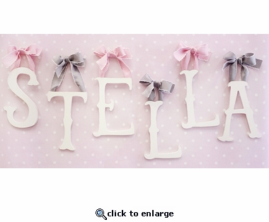Distressed White Storybook Wall Letter