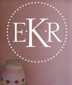 Dot Monogram Custom Personalized Wall Decal