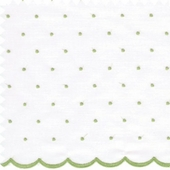 Dot Sheer Green Fabric