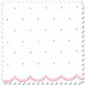 Dot Sheer Pink Fabric