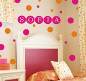 Dots Custom Personalized Wall Decal