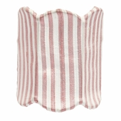 Double Scalloped Pink & White Stripe Night Light