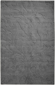 Dove Gray Damask Sculpture Loomed Rug