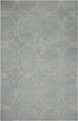 Dove Gray Ovals Candice Olson Hand-Tufted Rug