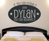 Dream Big Custom Personalized Wall Decal