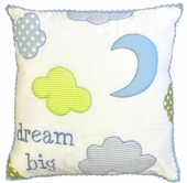 Dream Big Embroidered Throw Pillow