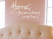 Dream Come True Custom Personalized Wall Decal