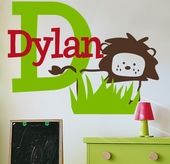 Dylan's Lion Custom Personalized Wall Decal