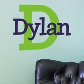 Dylan's Preppy Custom Personalized Wall Decal