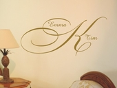 Elegant Monogram Custom Personalized Wall Decal