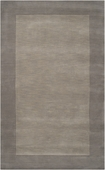Elephant Gray Border Mystique Hand-Crafted Rug