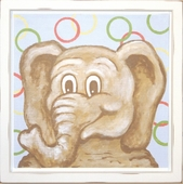 Elephant Mounted Deco Art Print