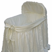 Ella Bassinet with Cream Bow