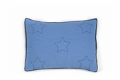 Embroidered Stars Blue Standard Sham