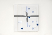 Embroidered Stars Sheet Set