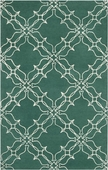 Emerald Green & Winter White Aimee Wilder Hand-Tufted Rug