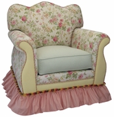 English Bouquet Adult Empire Glider Rocker Chair - Foam or Down