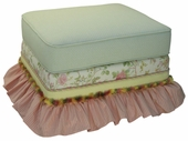 English Bouquet Adult Empire Ottoman - Stationary or Glider