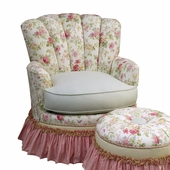 English Bouquet Adult Princess Glider Rocker Chair - Foam or Down