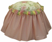 English Bouquet Child Princess Ottoman