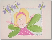 Fairy Avery Gallery Wrapped Stretched Giclee Canvas - Blonde