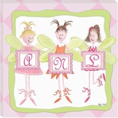 Fairy Monogram Personalized Gallery Wrapped Stretched Giclee Canvas