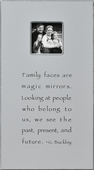 Family Faces Antiqued Picture Frame