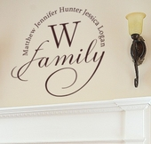 Family Monogram Custom Personalized Wall Decal