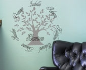 Family Tree Custom Personalized Wall Decal