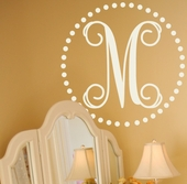 Fancy Dot Initial Custom Personalized Wall Decal