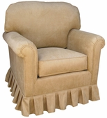 Faux Suede Camel Adult Continental Glider Rocker Chair - Foam or Down