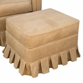 Faux Suede Camel Adult Continental Ottoman - Stationary or Glider