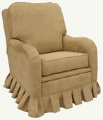 Faux Suede Camel Adult Kensington Recliner Chair - Foam or Down