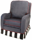 Faux Suede Navy Adult Kensington Recliner Chair - Foam or Down