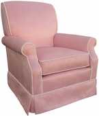 Faux Suede Pink Adult Club Glider Rocker Chair - Foam or Down