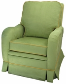 Faux Suede Pistachio Adult Kensington Recliner Chair - Foam or Down