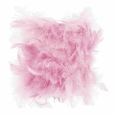 Feather Pink Drum Chandelier Shade