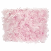 Feather Pink Large Drum Lamp Shade