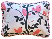 Feather Your Nest in Pink Throw Pillow