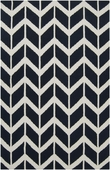 Federal Blue Chevron Fallon Hand-Woven Rug