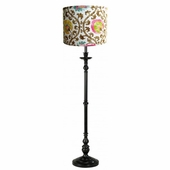 Filigree Shade with Black or White Metal Floor Lamp