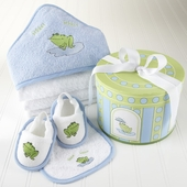 Finley the Frog 4-Piece Bath Time Gift Set