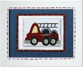 Fire Truck Custom Framed Giclee Print