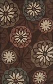 Floating Flowers Dark Cosmopolitan Hand-Tufted Rug