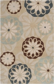 Floating Flowers Light Cosmopolitan Hand-Tufted Rug